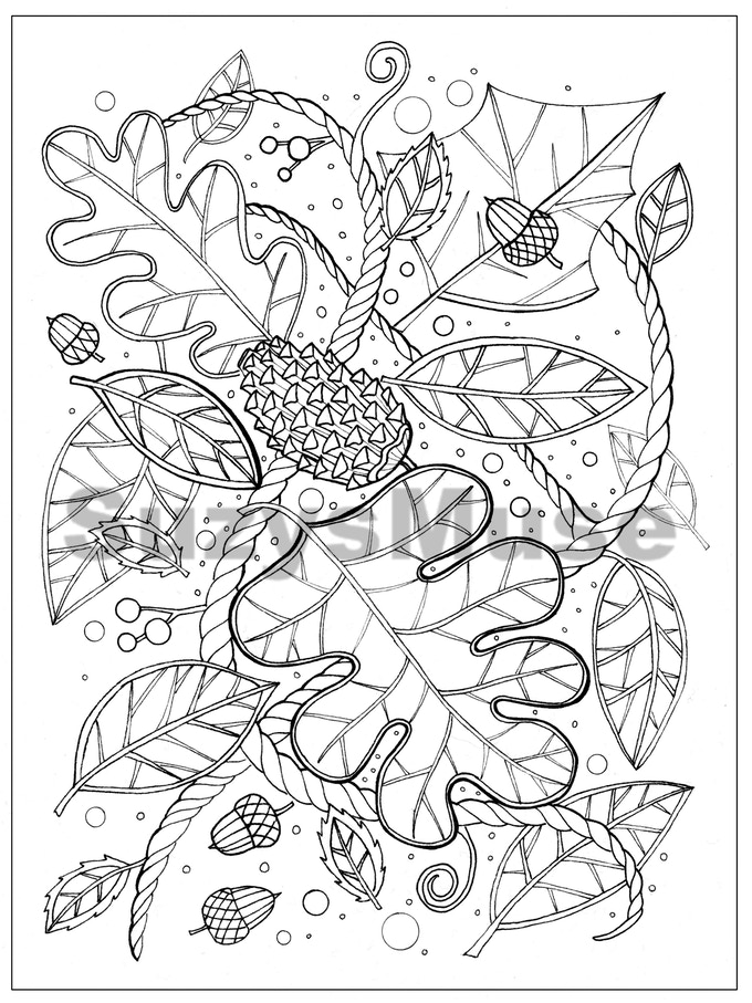 Adult Coloring Book Page Digital Weekly Subscription
