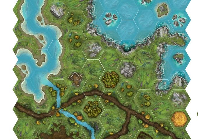 TerraTiles: Coasts & Rivers Tabletop Terrain System by Heath and