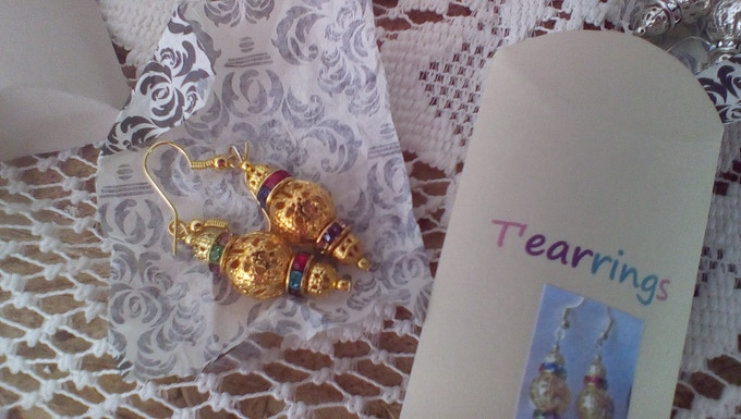 A sample of earrings from Tearrings