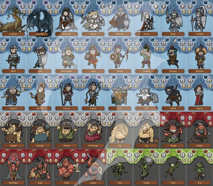 Anführerkarten / Character cards