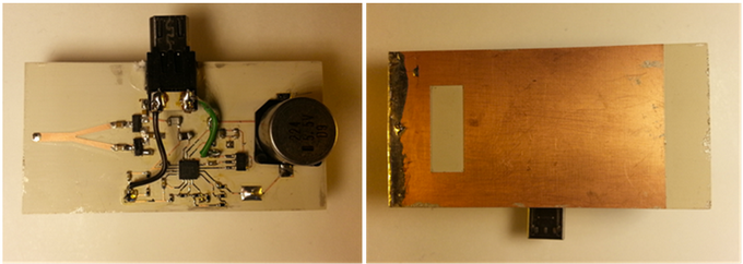 Figure 3 - Smart Phone Energy Harvester (a) Top View (b) Bottom View (Antenna).