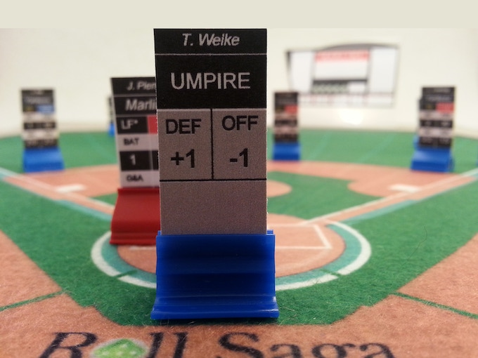 Individual and real umpires have their place in Roll Saga and have their own unique ratings - just like players.
