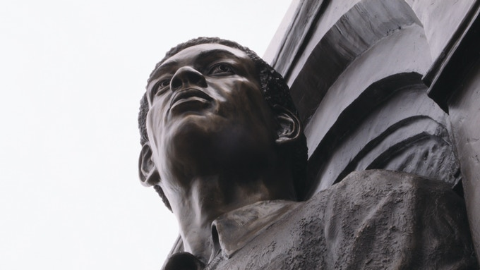 Tim's statue in Lubbock
