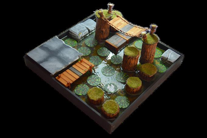 Lagoon scenery tile (12x12 inch.) / (30x30 cm.)