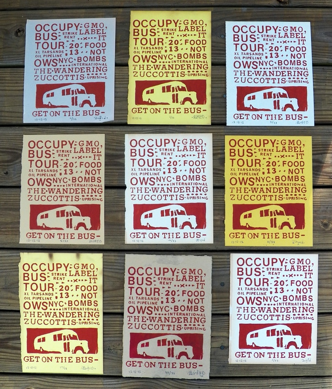 $25 - OCCUPY BUS TOUR screenprint by Adam Void
