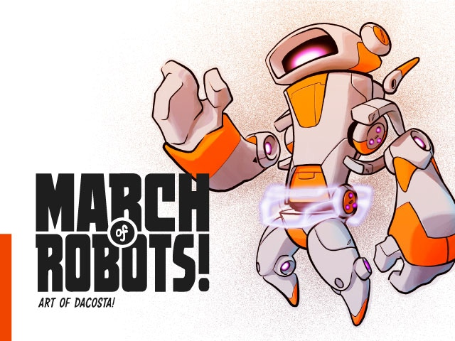 The first collection of robot drawings and interactive augmented reality concepts by artist Dacosta!