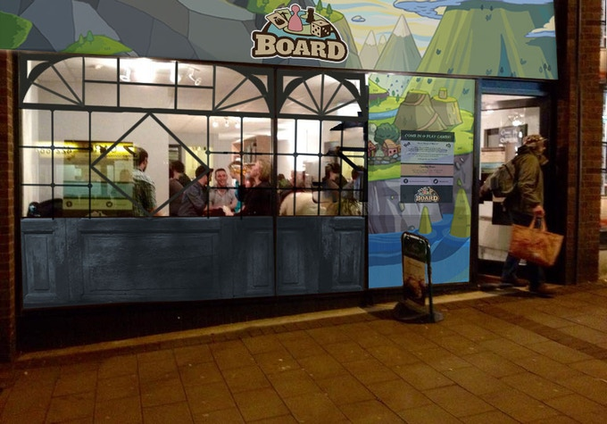 A mock-up of our new frontage [stand-in art]