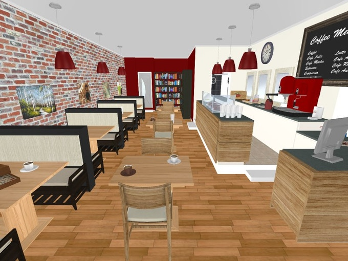 3D rendering of the new café