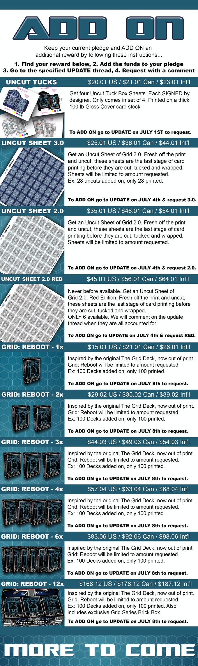 GRID 3 0 & GRID: REBOOT Playing Cards by 4PM DESIGNS