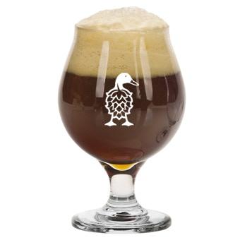 One Duck 16oz Belgian Glass
