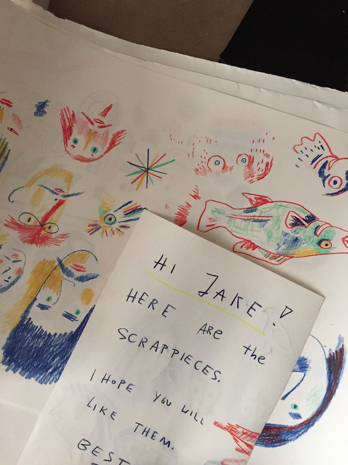 This arrived recently from Berlin, the scraps donated by Katja Spitzer