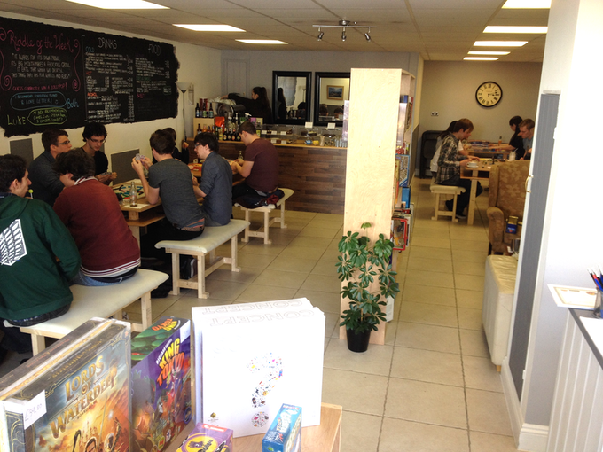 We were packed for Tabletop Day at the pop-up café