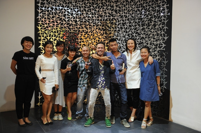 Artists and San Art team in 'Come to [what] end?', San Art Laboratory Session 5 group exhibition