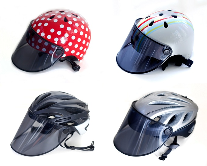 47b537af The Bouclier Visor: sun protection on your bike helmet by Lydia ...