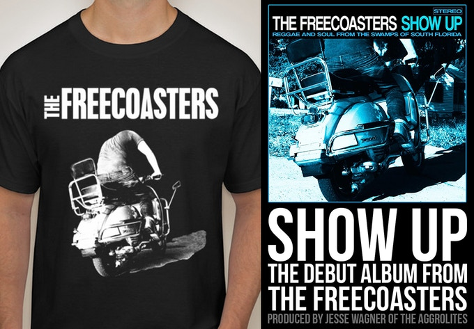 Get a Kickstarter Exclusive T-shirt! Or a promotional poster with the album art!