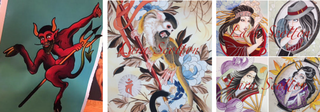 ORIGINAL Brad Fink ink and watercolor painting and more prints from Lara Scotton!