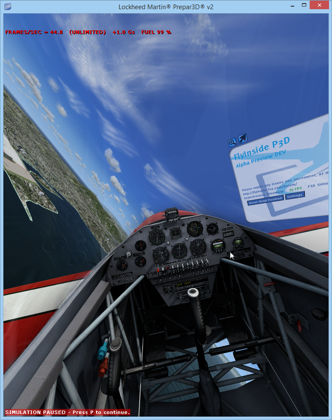 FlyInside P3D - Now with cockpit shadows