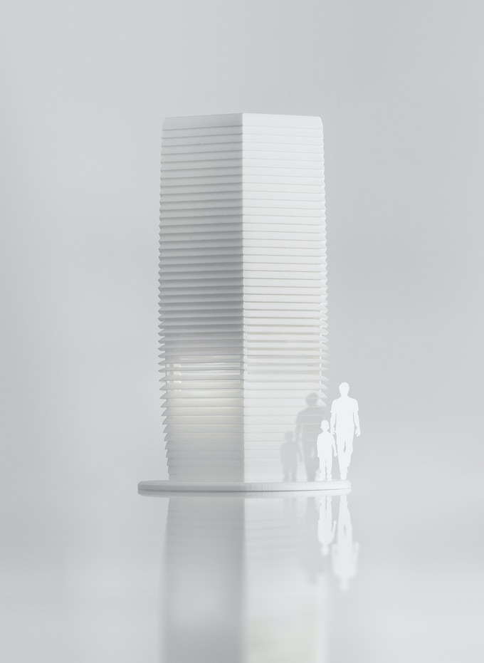 Scale model of the Smog Free Tower