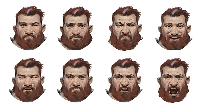 Facial expressions of our protagonist Tungdil