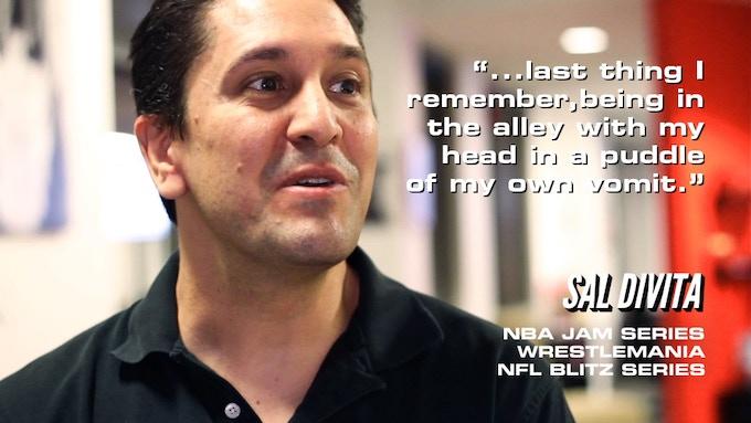 Sal Divita, Co-Creator of NBA Jam and Wrestlemania:The Arcade Game remembering fun bar nights with WWE Wrestlers.