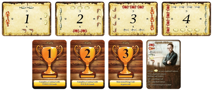 Captain, Trophy, and Market cards
