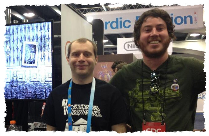Matt & Eduardo at GDC showing Neverending Nightmares