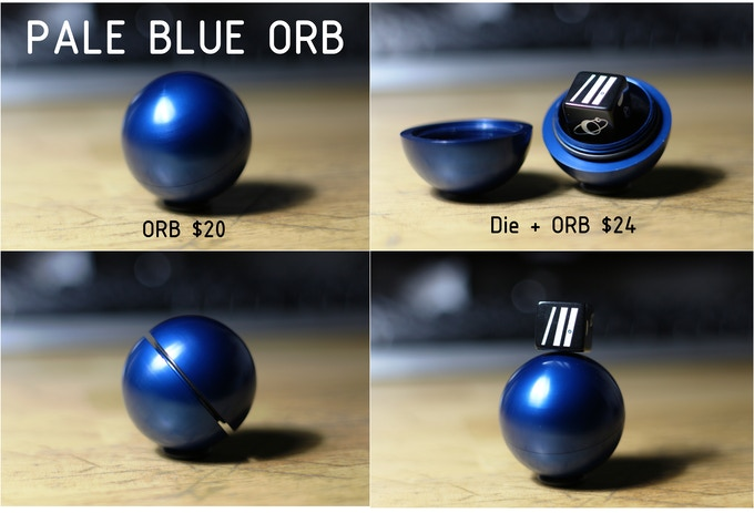 Want a Pale Blue ORB all by itself? You got it! Want a Pale Blue Orb bundled with a Pale Blue Die? No problem!