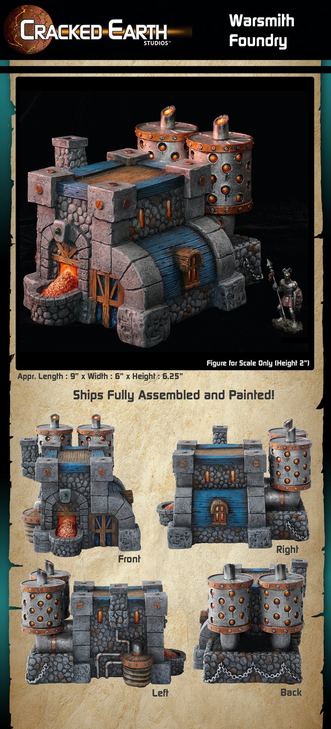 Cracked Earth Studios Miniature Tabletop Gaming Terrain By