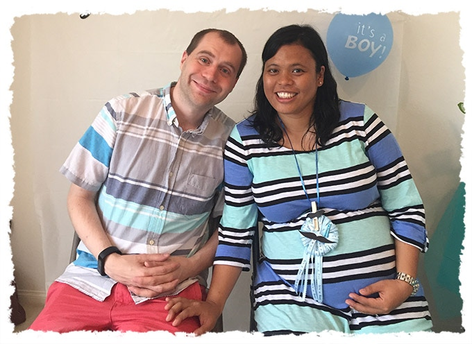 Joanne and Matt at their baby shower! (It's a boy!)