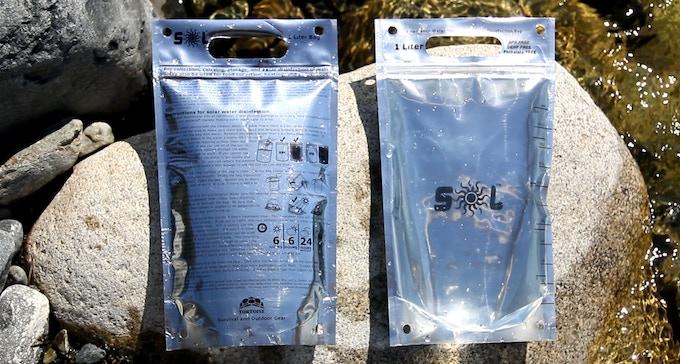 Survivalist   One liter zip top solar disinfection bag