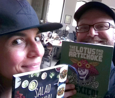 Selfie with Terry Hope Romero, author of Salad Samurai, Vegan Eats World, Veganomicon