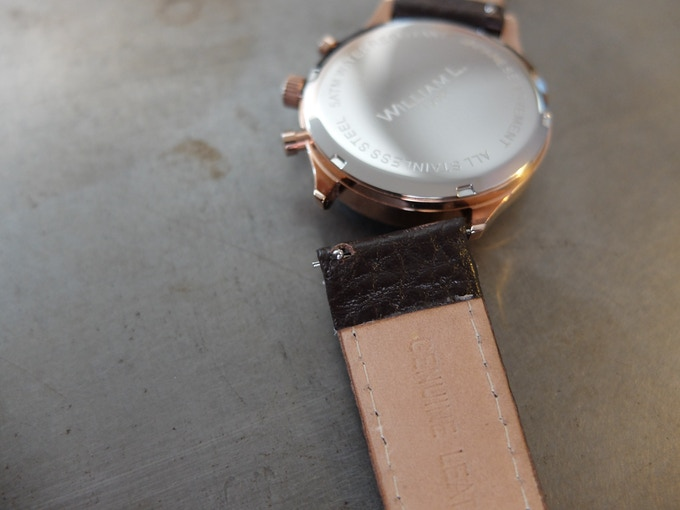 Leather strap with easy bar