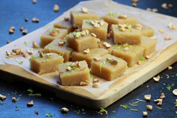 Sweet Semolina Squares (Kesari)