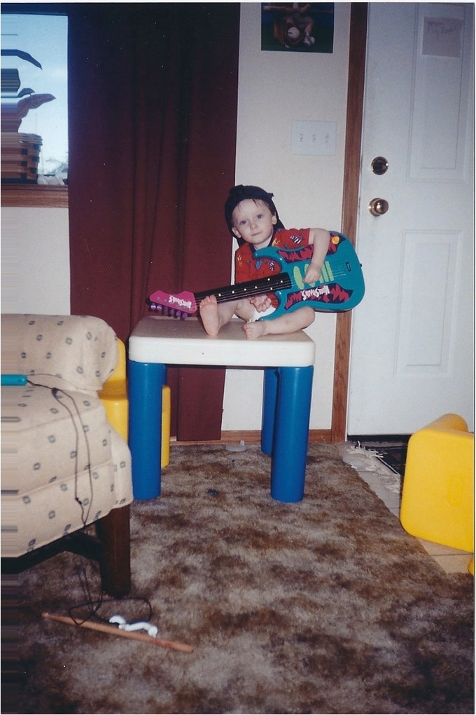 Back when I played left-handed.