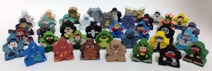 Just a few of the Character Meeples from the first project