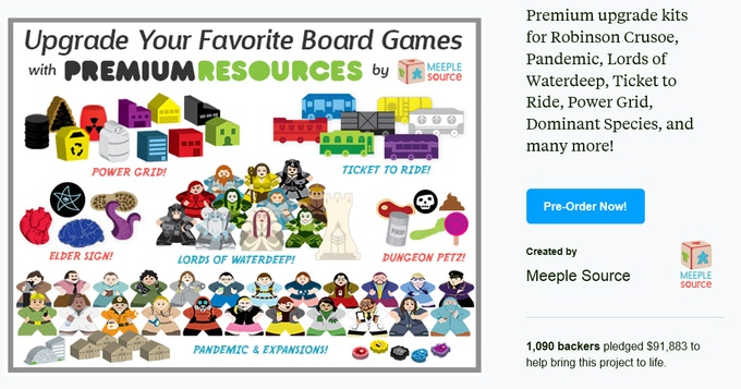 Our most recent Kickstarter project - complete upgrade kits for quite a few popular games