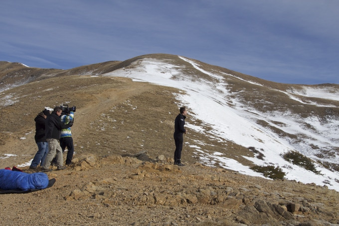 Christopher and crew at the top of the Continental Divide, over 11,000 feet.