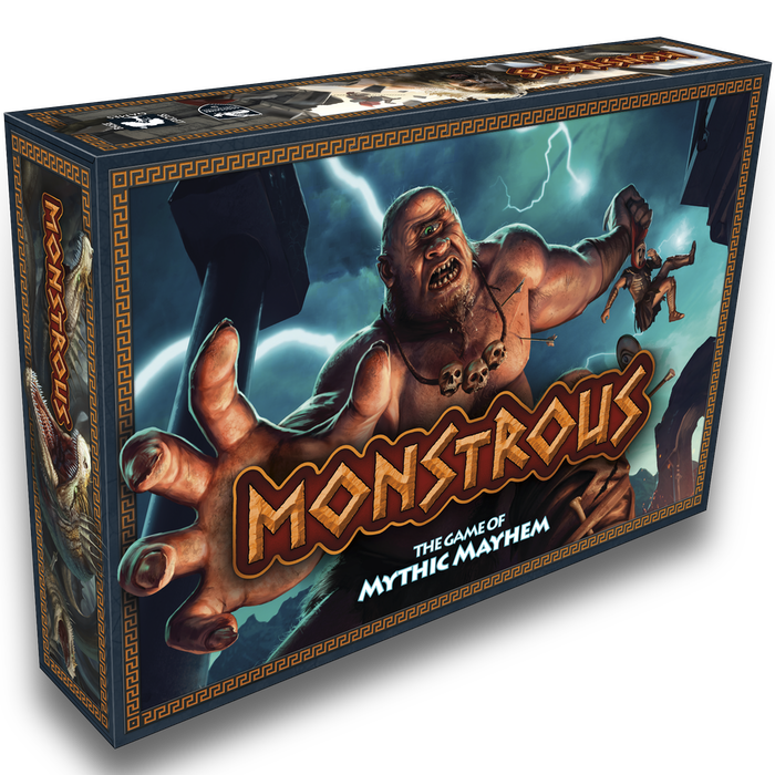 You are wrathful Greek gods. The faithless mortals are down there. And you have monsters. Get MONSTROUS! 2 - 5 gods. 30 mins. Ages 10+