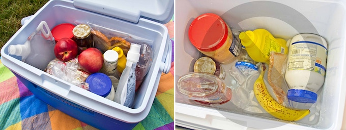 Frozen bags keep a cooler cool longer |  Doesn't end up in a watery mess