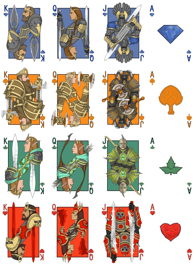Feature; Kingdoms of Erden: Fantasy Comic Playing Cards.