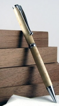 An example of the pen add on. Uses the matching wood from your dice set.