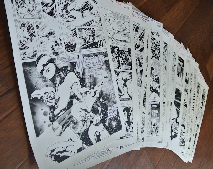 Steve has first 20 pages penciled, inked, lettered!