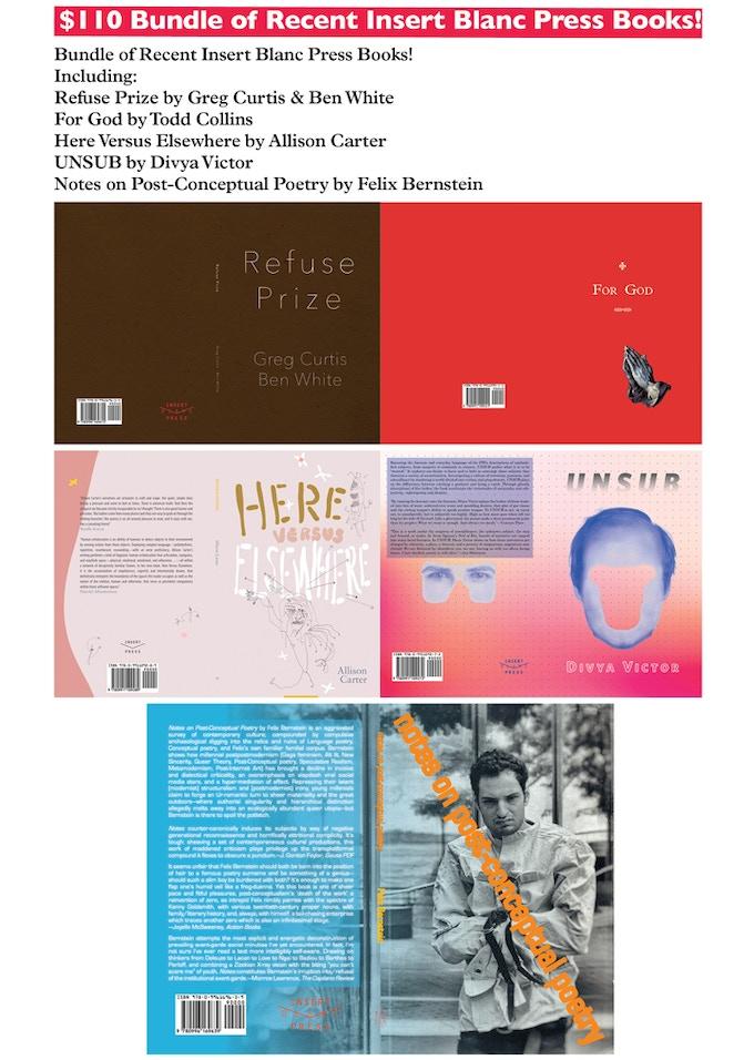 Insert Blanc Press Produces Innovative Art & Literature by