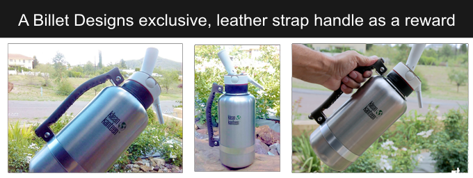 Kickstarter, Leather handle for 64oz klean kanteen