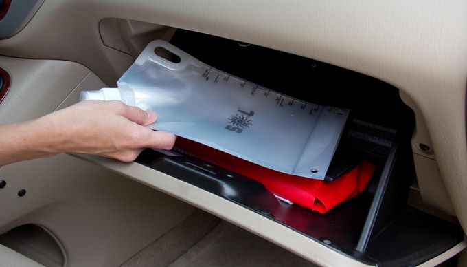 Store an empty SOL bag in your glove box for emergency use
