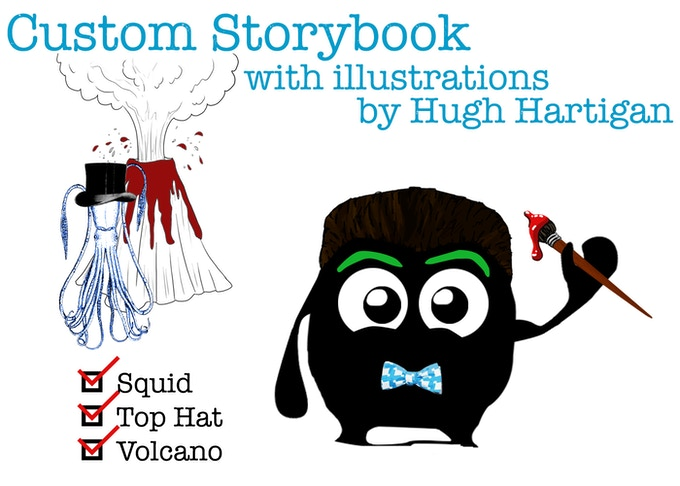 Serving up a hand-made story book created just to your liking!