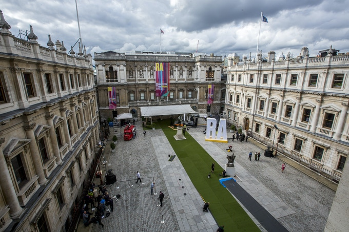 The Royal Academy's Courtyard