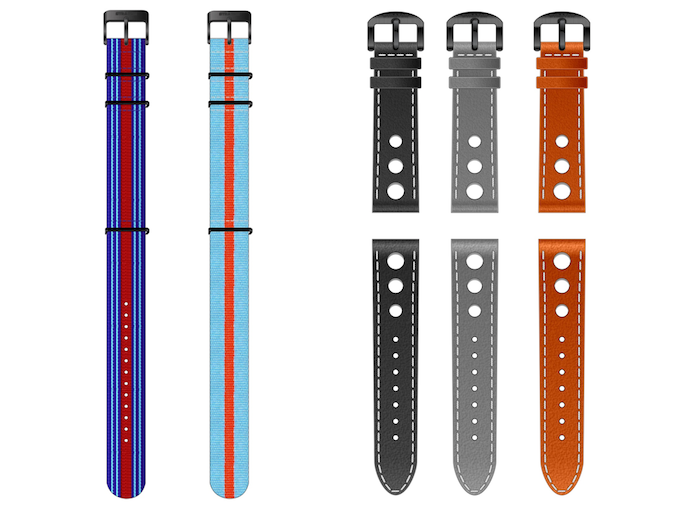 Racing striped NATO straps and the Genuine Leather Rally straps