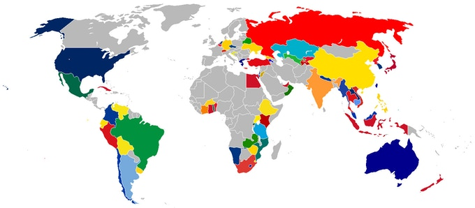 Countries visited and featured in the book