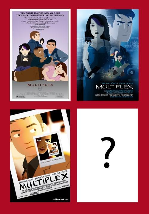 Multiplex parody posters (not final art)